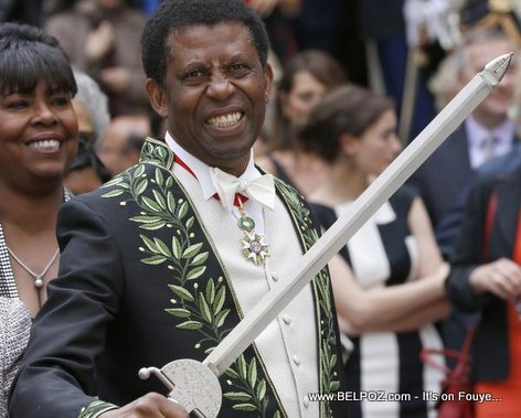 PHOTO: Haitian Writer Dany Laferriere at Academie Francaise