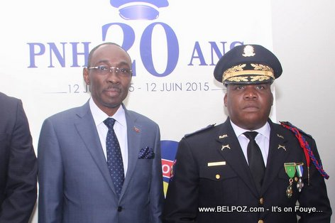 PHOTO: Haiti Prime Minister Evans Paul and Police Chief Godson Orelus