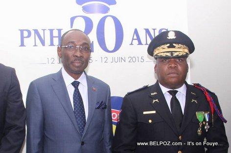 PHOTO: Haiti Prime Minister Evans Paul and Police Chief Godson Orelus