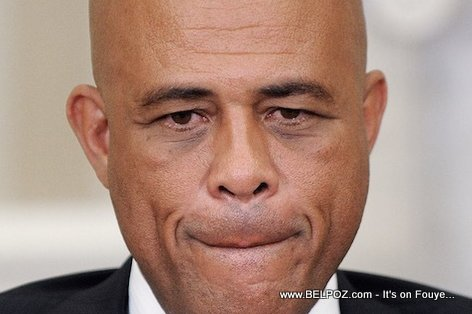 PHOTO: Haiti - President Martelly Sad