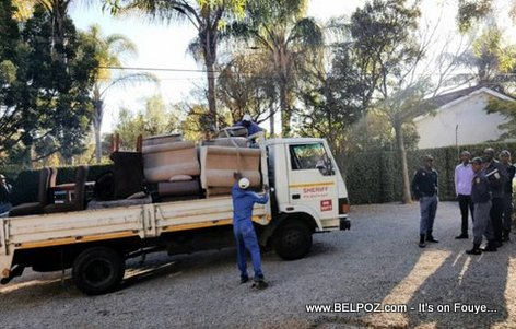 PHOTO: Haiti Embassy belongings taken away for Unpaid Rent