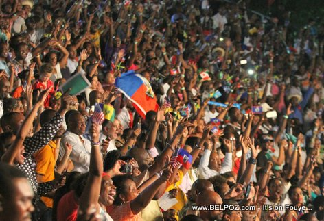 Haiti - Big Crowd enjoying CARIFESTA XII at Champs-de-Mars