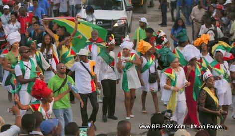 Haiti - CARIFESTA XII - Guyana Delegation enjoying Haiti