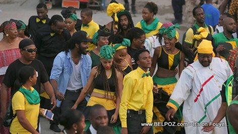 Haiti - CARIFESTA XII - Jamaica Delegation enjoying Haiti