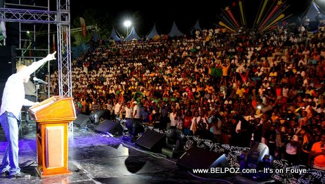 Haiti - President Martelly addresses the crowd at CARIFESTA XII Official Launch