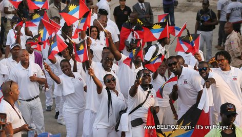 Haiti CARIFESTA XII - Antigua and Barbuda Delegation Enjoying Haiti