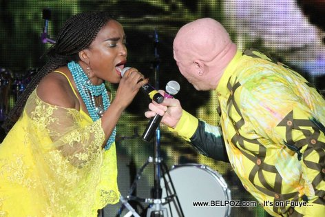 Haiti CARIFESTA XII - Emeline Michel James Germain Perfoming live at Opening Ceremony