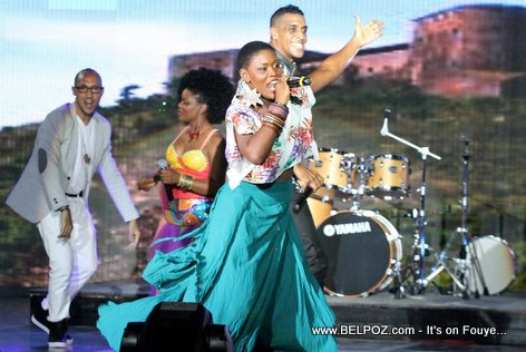 Haiti CARIFESTA XII - J Perry and Mikaben Perform Theme Song, Openning Ceremony