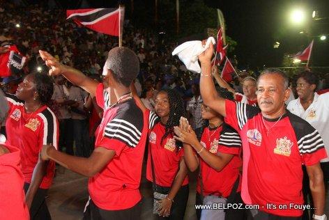 Haiti CARIFESTA XII - Trinidad and Tobago Delegation Enjoying Haiti