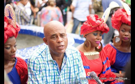PHOTO: Haiti - President Martelly being Interviewed at CARIFESTA XII - Day2