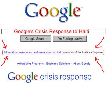 Google Crisis Response to Haiti
