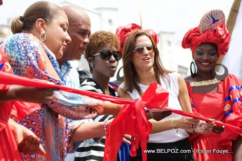 PHOTO: Haiti - CARIFESTA XII - First Lady Sophia Martelly Inaugurates Grand Market