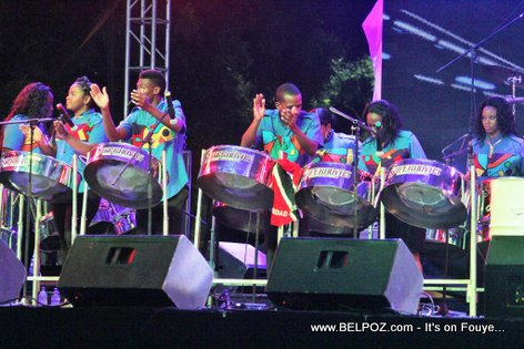 PHOTO: Haiti CARIFESTA XII - SUPERNOVAS Steel Band performing live at Grand Market Stage
