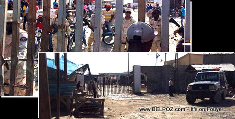 PHOTO - Tension at Malpasse Haiti-Dominican Border Jimani