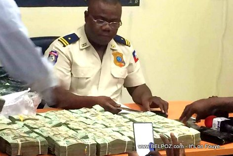 Haitian Police confiscates large sum of money