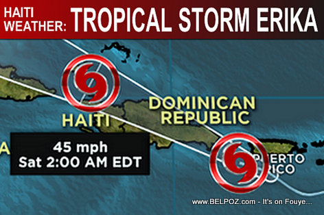 Haiti Weather - Tropical Storm Erika