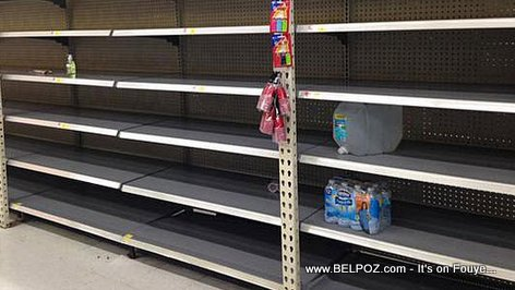 PHOTO: No WATER left at Walmart ahead of Tropical Storm Erika