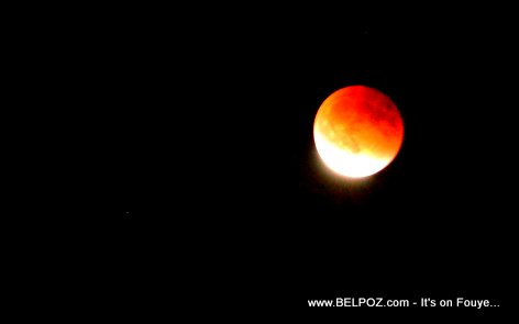 PHOTO: Supermoon Lunar Eclipse over Haiti...
