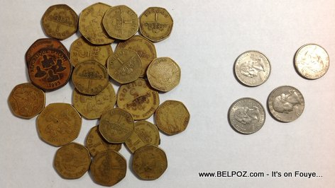 Photo Money Coins Haiti Vs Usa