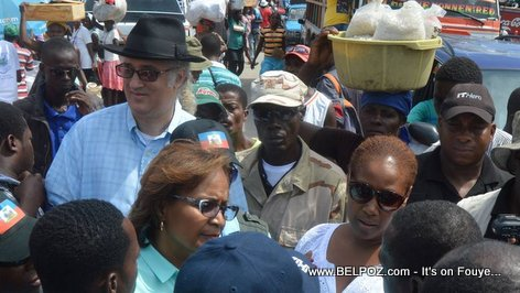 PHOTO: Haiti - Richard A Morse (RAM) campaigning with Candidate Maryse Narcisse