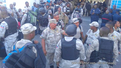 PHOTO: Haiti Elections Day - GWO Mobilization La Police
