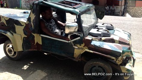PHOTO - Automobile Made in Haiti from Scrap Metal