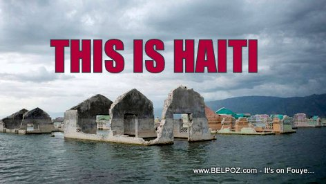 PHOTO: Haitian village of Lunettes floating in Lake Azuei