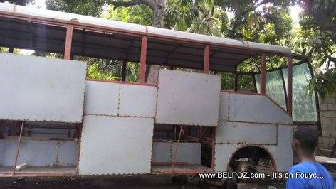 PHOTO: Haiti - Coutard Bus Under Construction - MADE IN HAITI