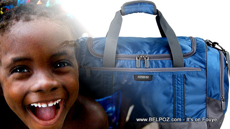PHOTO: Haitian Child and a Travel Bag