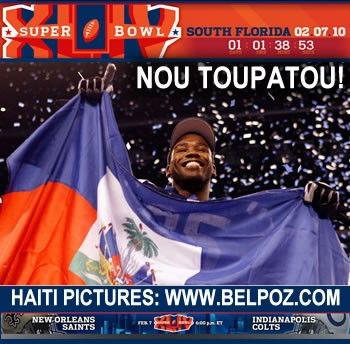 Super Bowl 44 - Pierre Garcon Represents Haiti