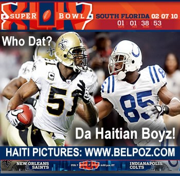 Jonathan Vilma, Pierre Garcon - Haitians in the NFL