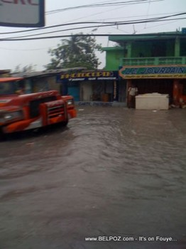 Flooding Rain In Port Au Prince Haiti