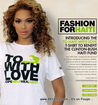 Beyonce - Fashion For Haiti T-Shirt