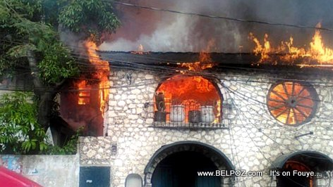 PHOTO: Haiti Petionville Restaurant Fire - Old El Cubano Restaurant