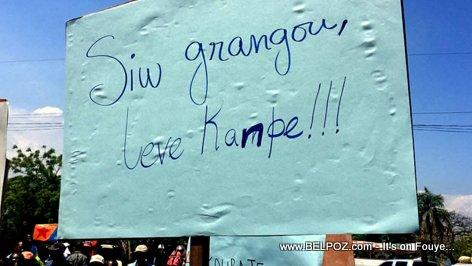 PHOTO: Haiti Manifestation - Si w Grangou Leve Kanpe!!!