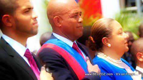 PHOTO: Haiti - Olivier Martelly, President Martelly, Sophia Martelly