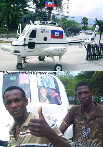 Helicopter made in Haiti