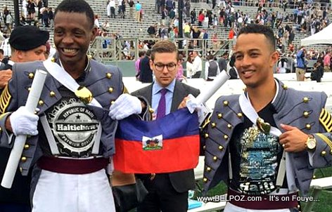 PHOTO: Haitian Cadet Alix Idrache Displays his Haitian Pride Graduation Day at West Point