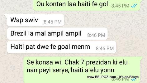 Conversation 2 Haitiens apre match Haiti vs Brezil la nan Copa America