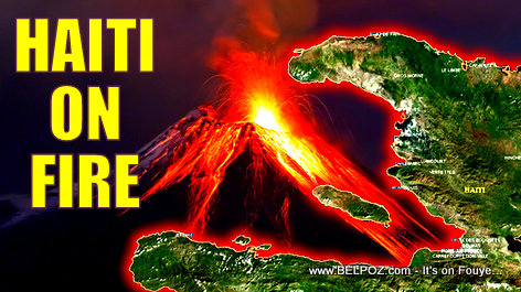 PHOTO: Haiti on Fire - Haiti Pran DIFE!