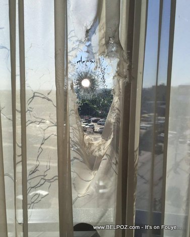 PHOTO: Haiti Bullet Holes - Marriott Port-au-Prince Hotel