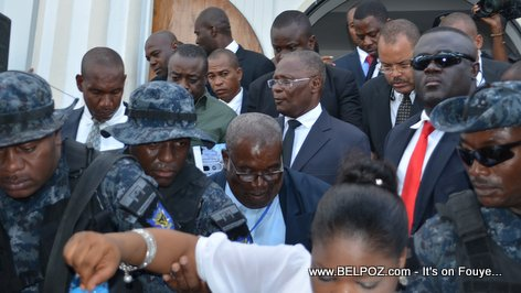 PHOTO: President Jocelerme Privert in Hinche Haiti - Ordination Monseigneur Desinord Jean
