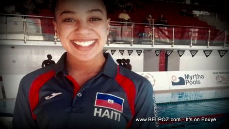 PHOTO: Naomi Grand Pierre - Haiti First Woman to Swim at the Olympics