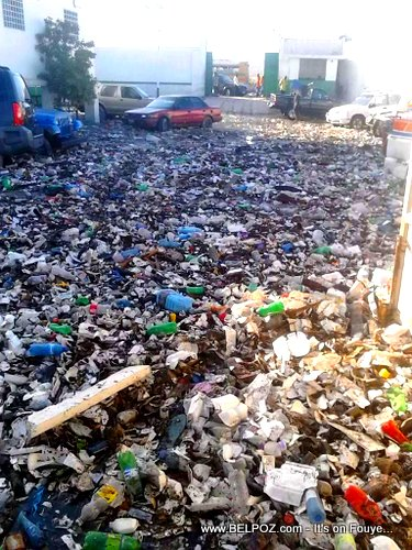 PHOTO: Haiti - Hospital Chancerelle Parking Loaded with Trash after the Rain
