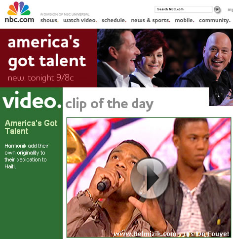 Harmonik Video - Video Clip of the Day on NBC