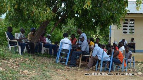 PHOTO: Trois Roche Haiti - A Group of Peasants Meet to Discuss Politics
