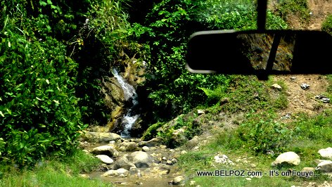 PHOTO: Haiti Travel - a Waterfall Next to the Road