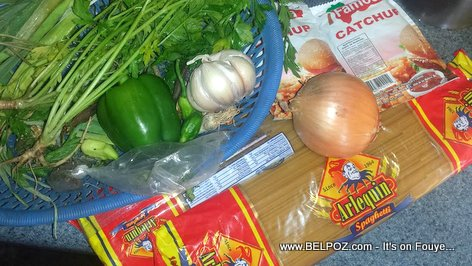 Haitian Style Spaghetti - The Ingredients