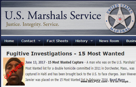 |Jean Weevens Janvier - US Marshals Most Wanted - Captured in Haiti
