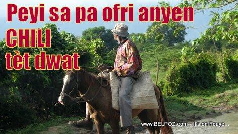 Haiti: Peyi sa pa Ofri anyen, CHILI tèt Dwat
